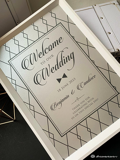 Tux Welcome Signage with Frame