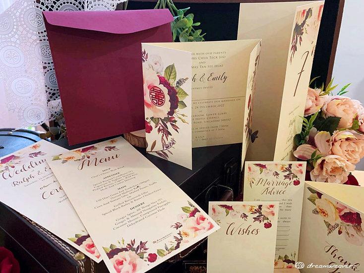 Florie Rouge Stationery Suites [Premium Set]