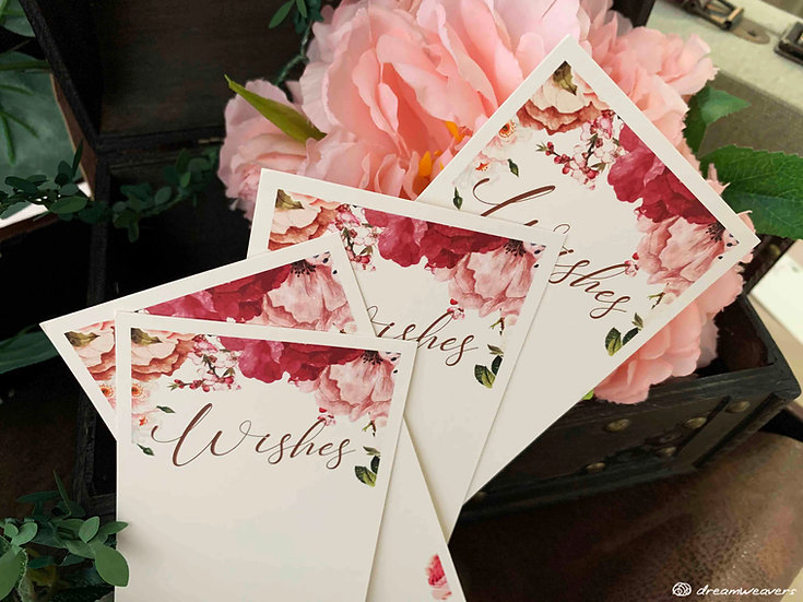 Marsala Blush Wishes Card