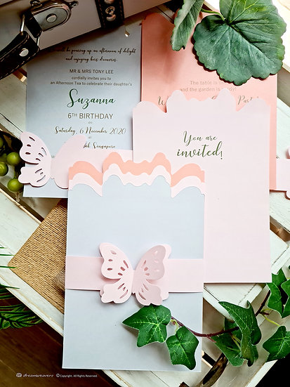 ENCHANTED GARDEN Invitation Card [10sets]
