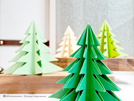 Origami Christmas Tree Decoration