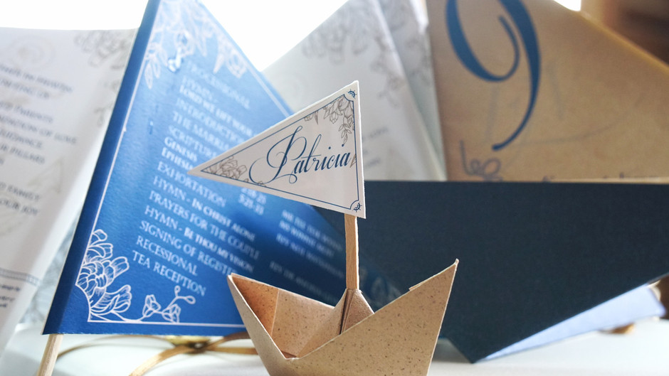 Sail Away! Origami Boat Place Card