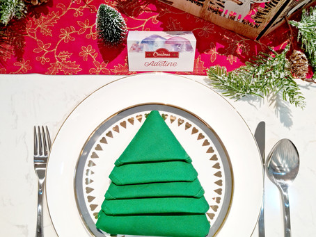 Spruce Up Your Dining Table with This Christmas Tree Napkin Folding