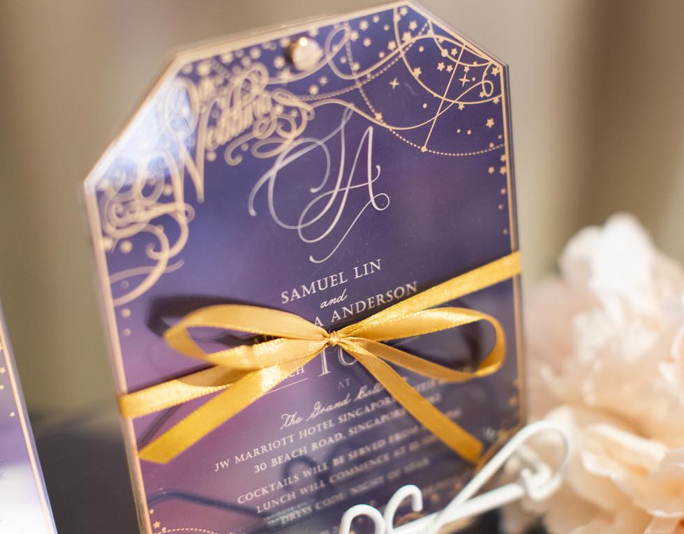 Stellar Acrylic Wedding Invitation