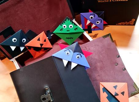 Halloween Inspired Corner Bookmarks