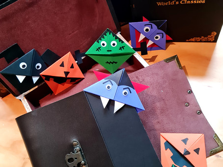 Halloween Inspired Corner Bookmarks