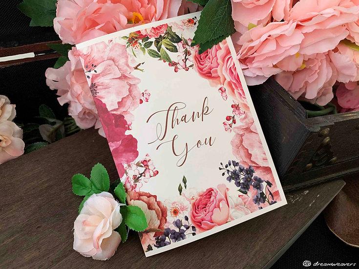 Marsala Blush Thank You Card