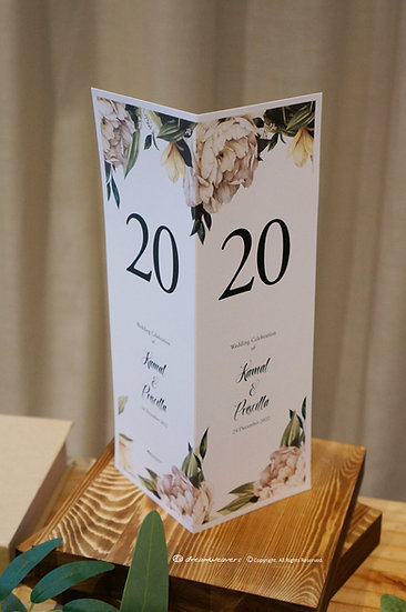 Element of Emotions Table Number