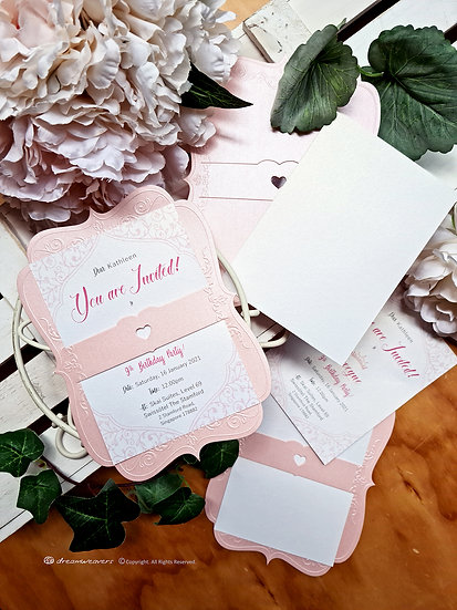 FAIRYTALE SCROLL Invitation Card [10sets]
