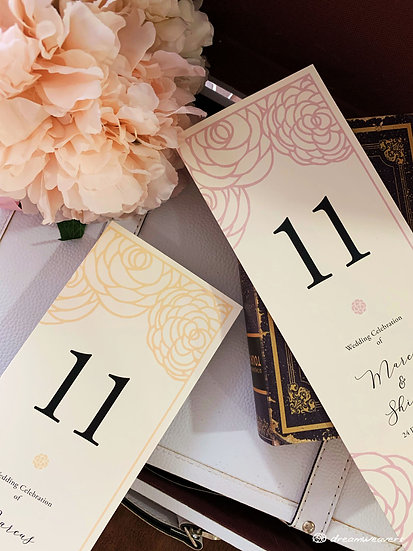 Rosey Table Number