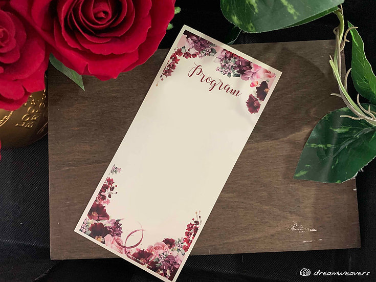 Wine & Dine Bloom Program Panel (Blank)