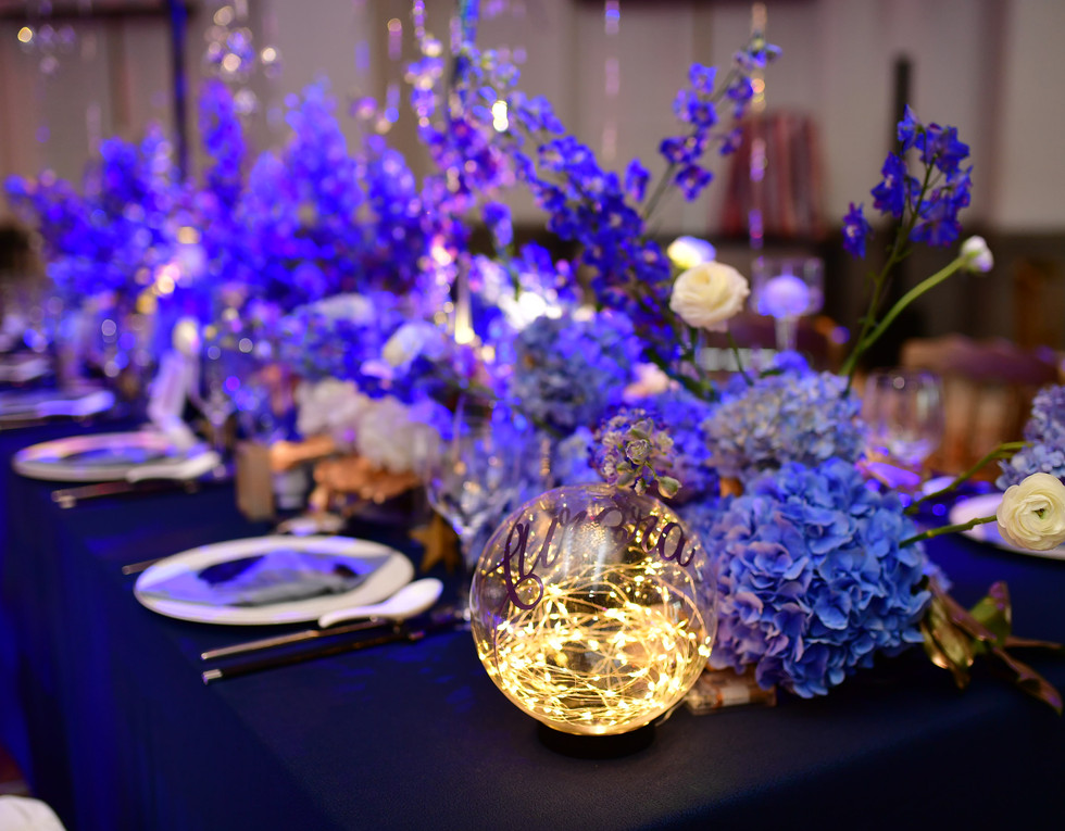 Glass Globe Table