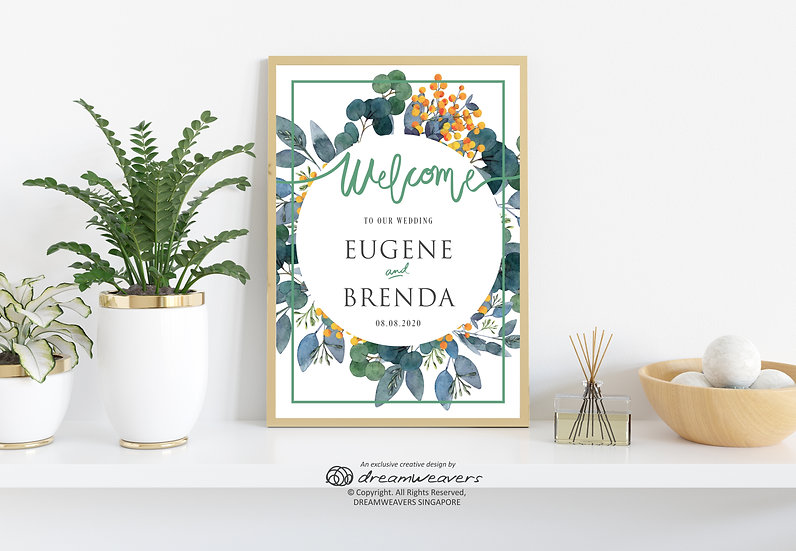 Organic Sage Welcome Signage