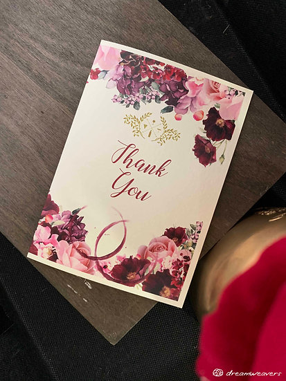 Wine & Dine Bloom Thank You Card