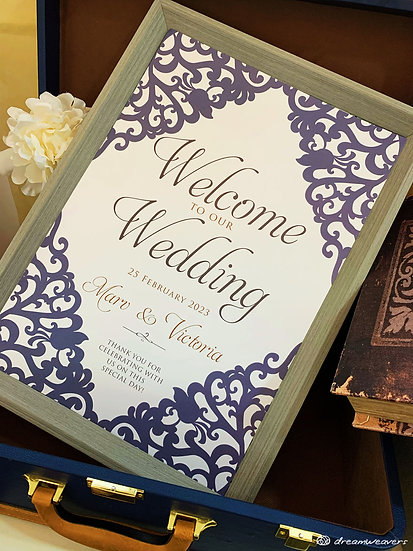 Victorian Welcome Signage with Frame