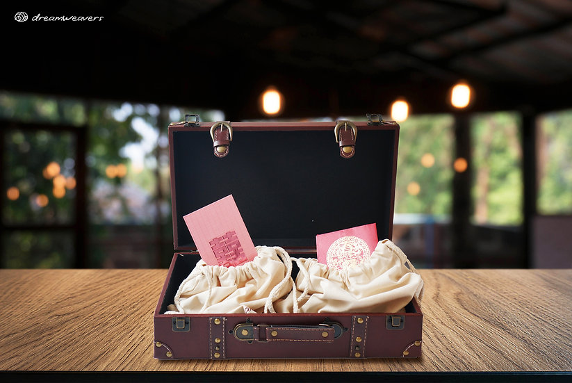 Vintage Suitcase Monetary and Card Box