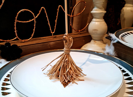 Witchy Broomstick Place Cards
