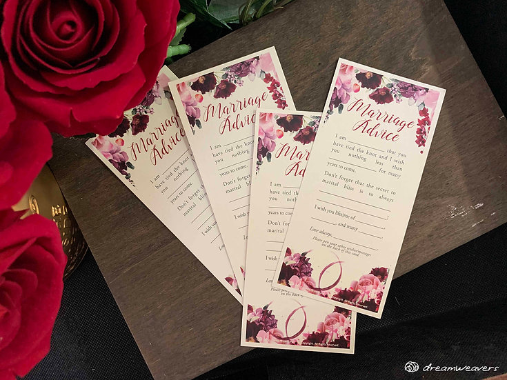 Wine & Dine Bloom Marriage Advice Card
