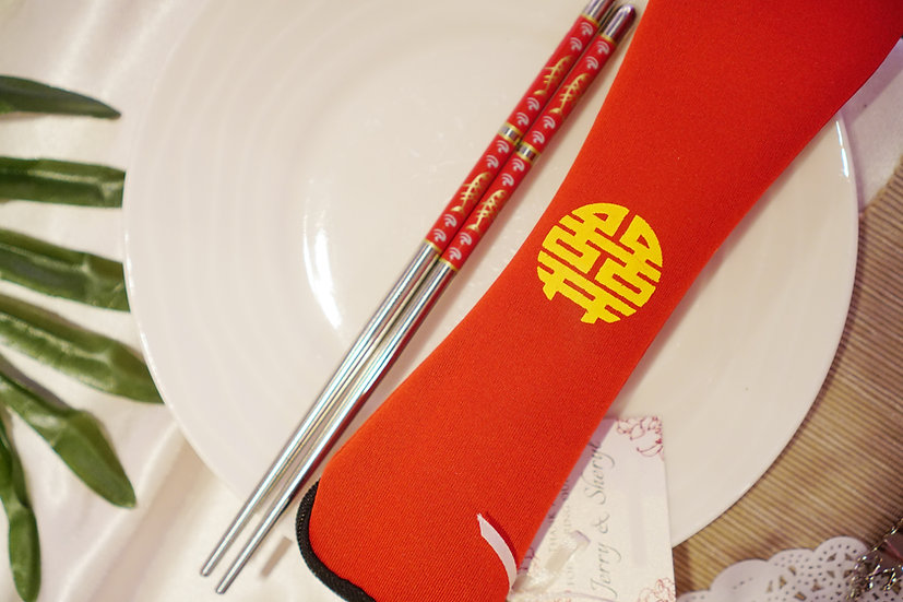 Xi Pouch with Chopsticks