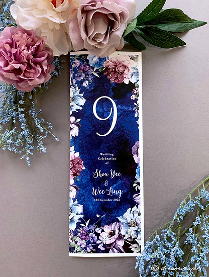 Midnight Summer Table Number