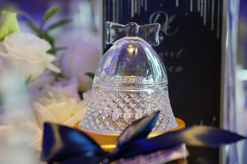 Glass Bell Condiment Trinket Jar
