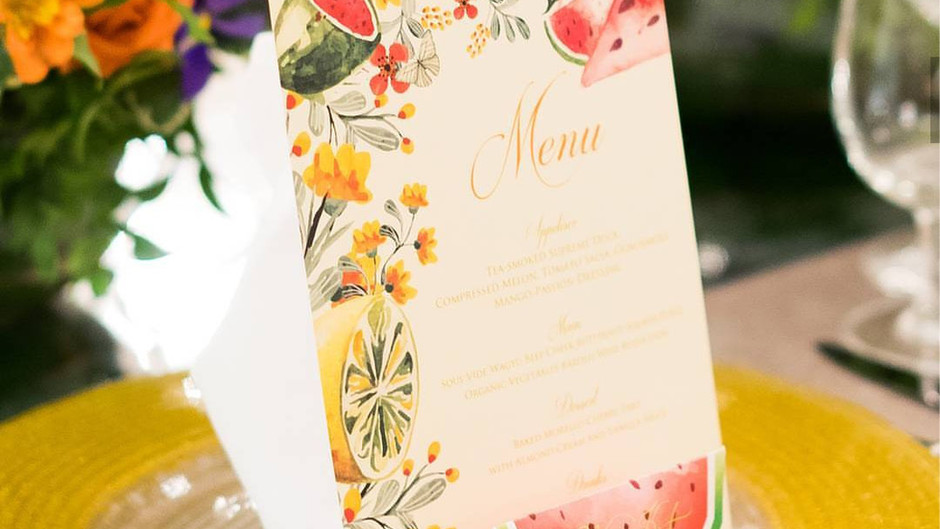 A Summery Fruitti Wedding Inspiration