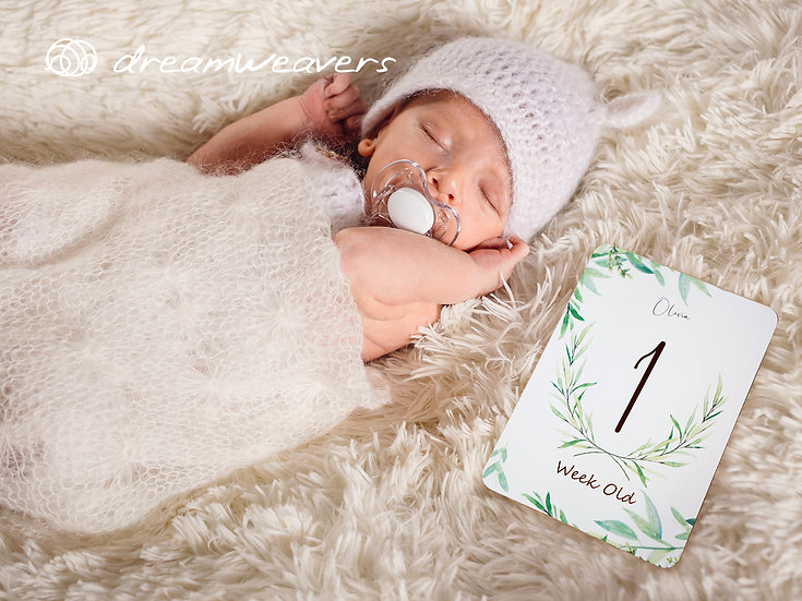 Baby Milestone Photo Cards [Botany]