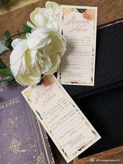 Magnolia Flourish Marriage Advice Card
