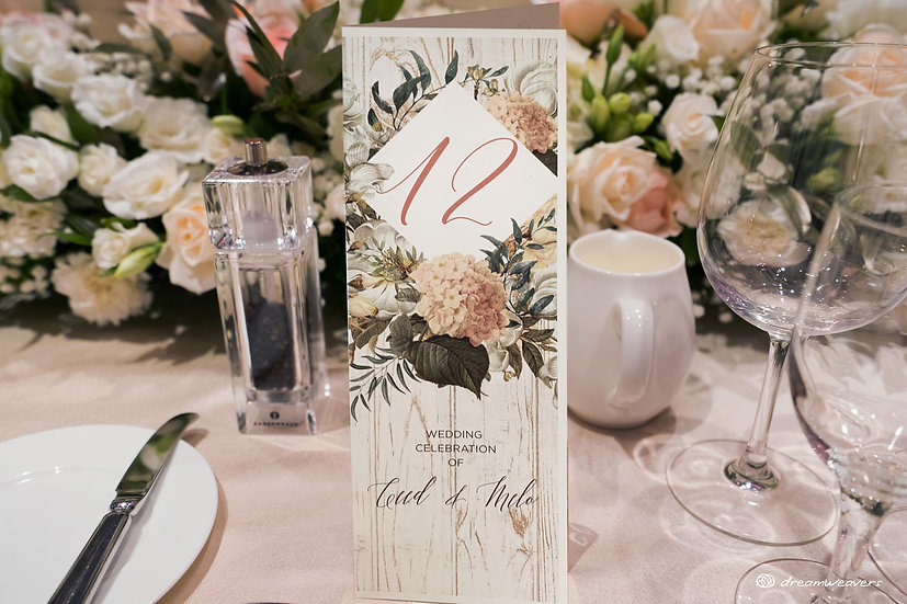 Magnolia Flourish Table Number