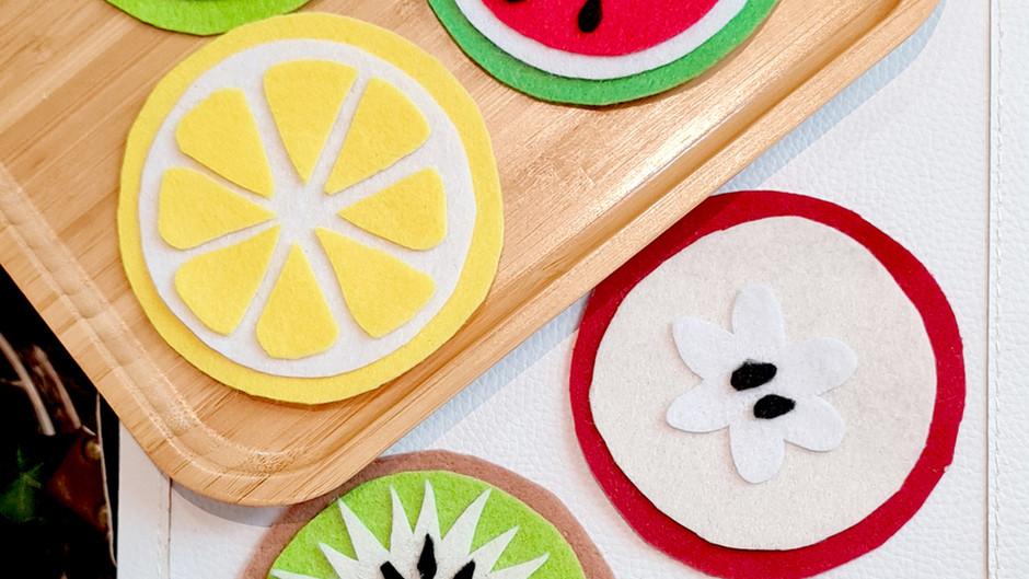 Summer Fruitti Felt Coasters