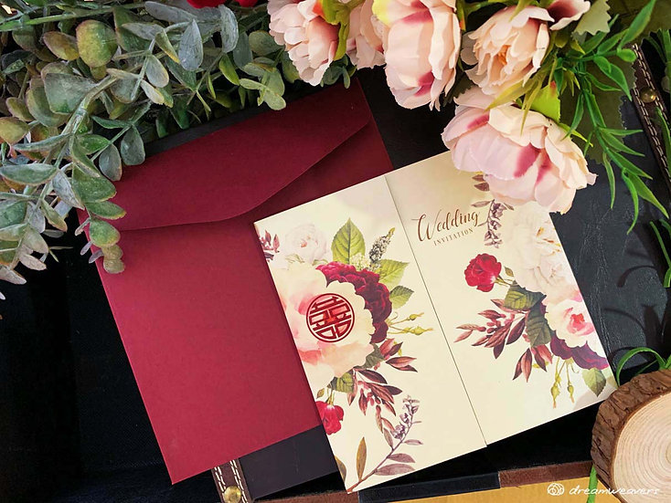Florie Rouge Invitation Card (Blank)