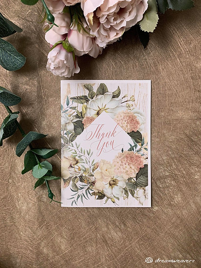 Magnolia Flourish Thank You Card