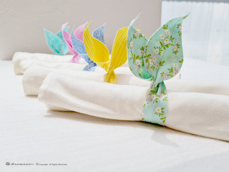 Bunny Ears Twist Napkin Band