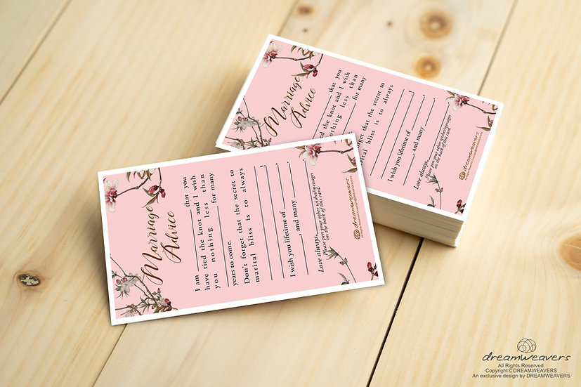 Chinoserie Marriage Advice Cards [50pcs]
