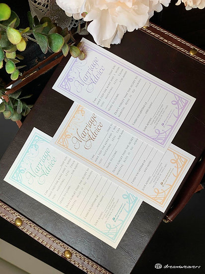 Chandelier Marriage Advice Card