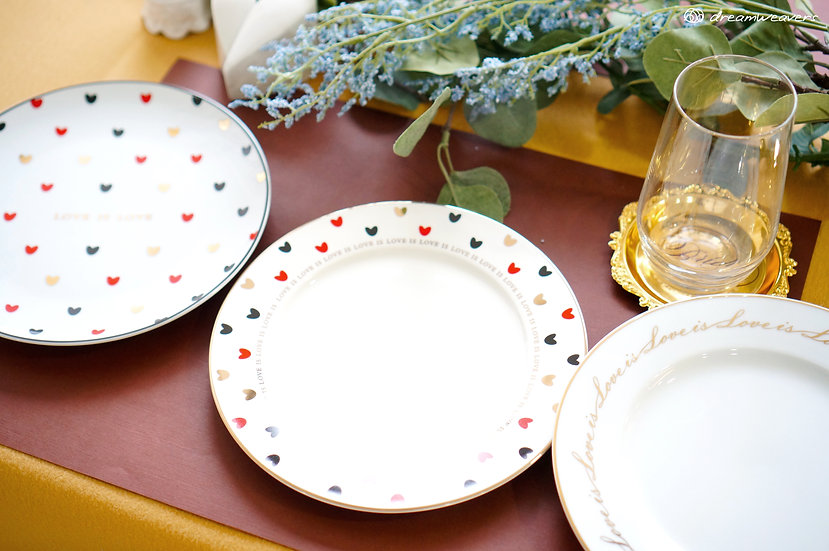 Queen of Hearts Ceramics Plates & Bowl