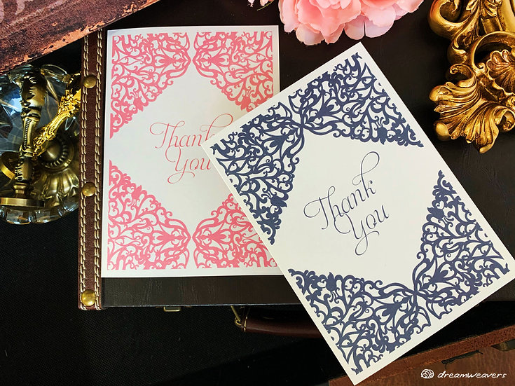 Victorian Thank You Card