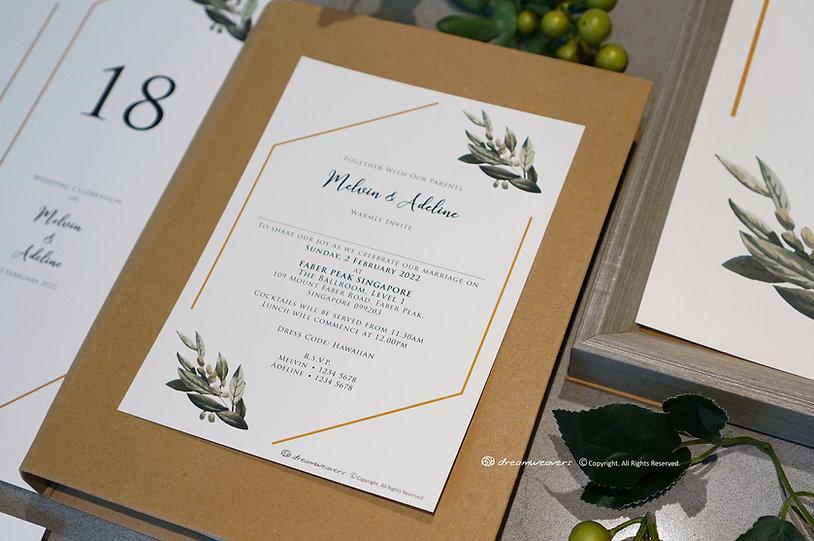 Modern Sage Invitation