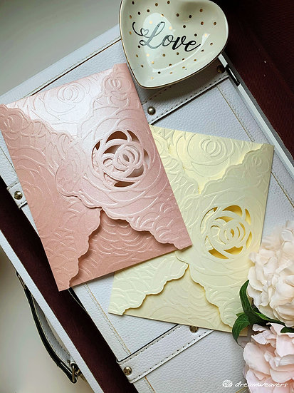 Rosey Invitation Card (Blank)