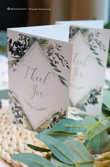 Bliss Thyme Thank You Card