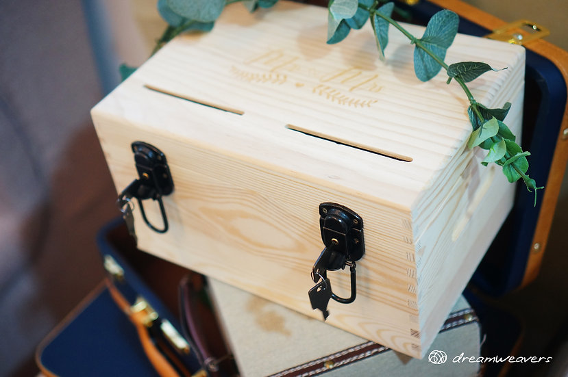 Wooden Monetary and Card Box