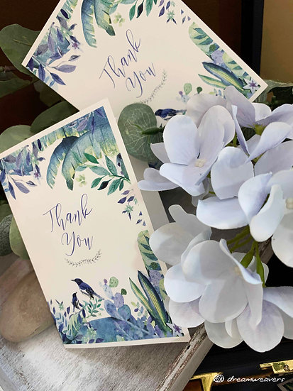 Blue Birds Thank You Card