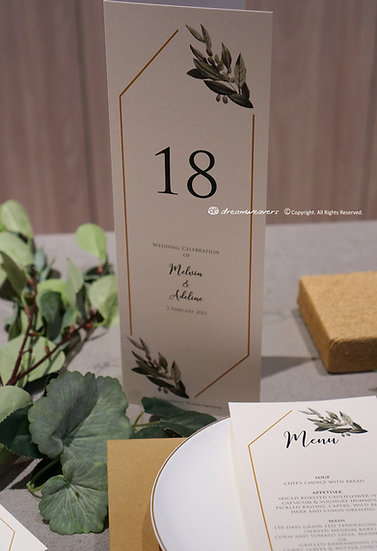 Modern Sage Table Number
