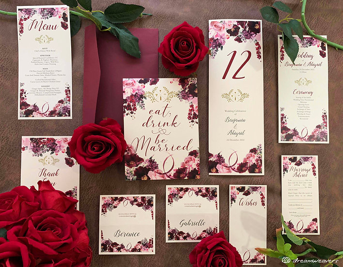 Wine & Dine Bloom Stationery Suites [Premium Set]