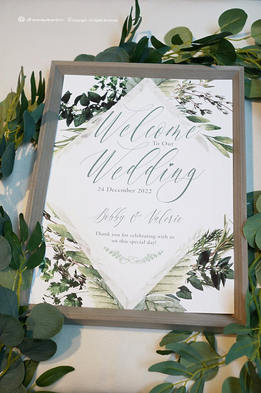 Bliss Thyme Welcome Signage with Frame