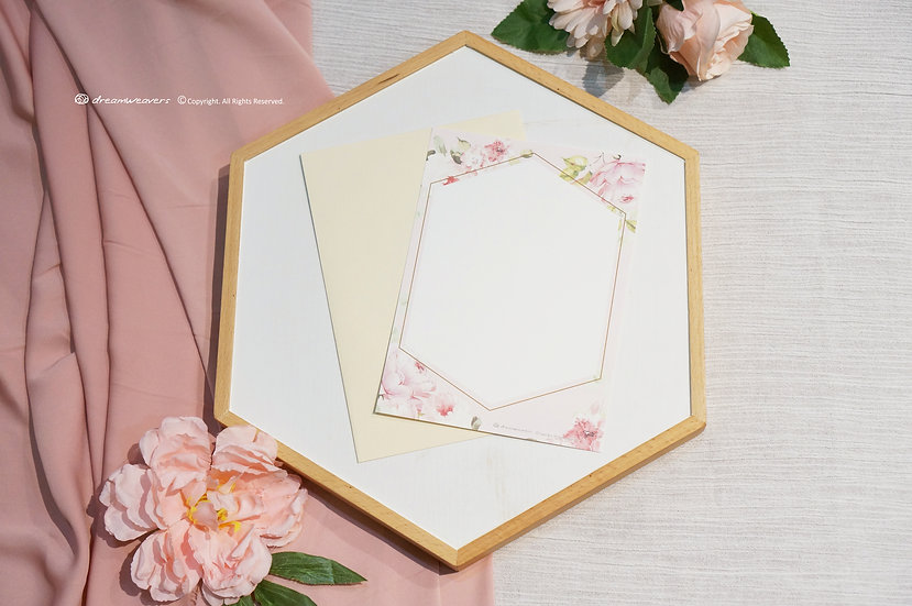 Rose Quartz Invitation Card (Blank)