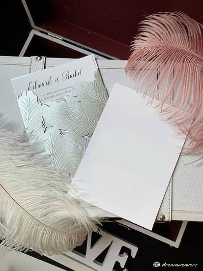 Fine Quills Invitation Card (Blank)