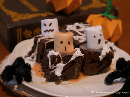 Halloween Ghostly Fudgy Brownie