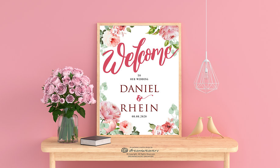 Sweet Posy Welcome Signage
