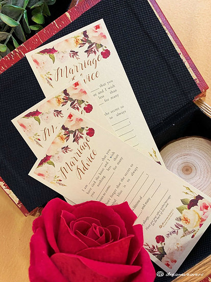 Florie Rouge Marriage Advice Card